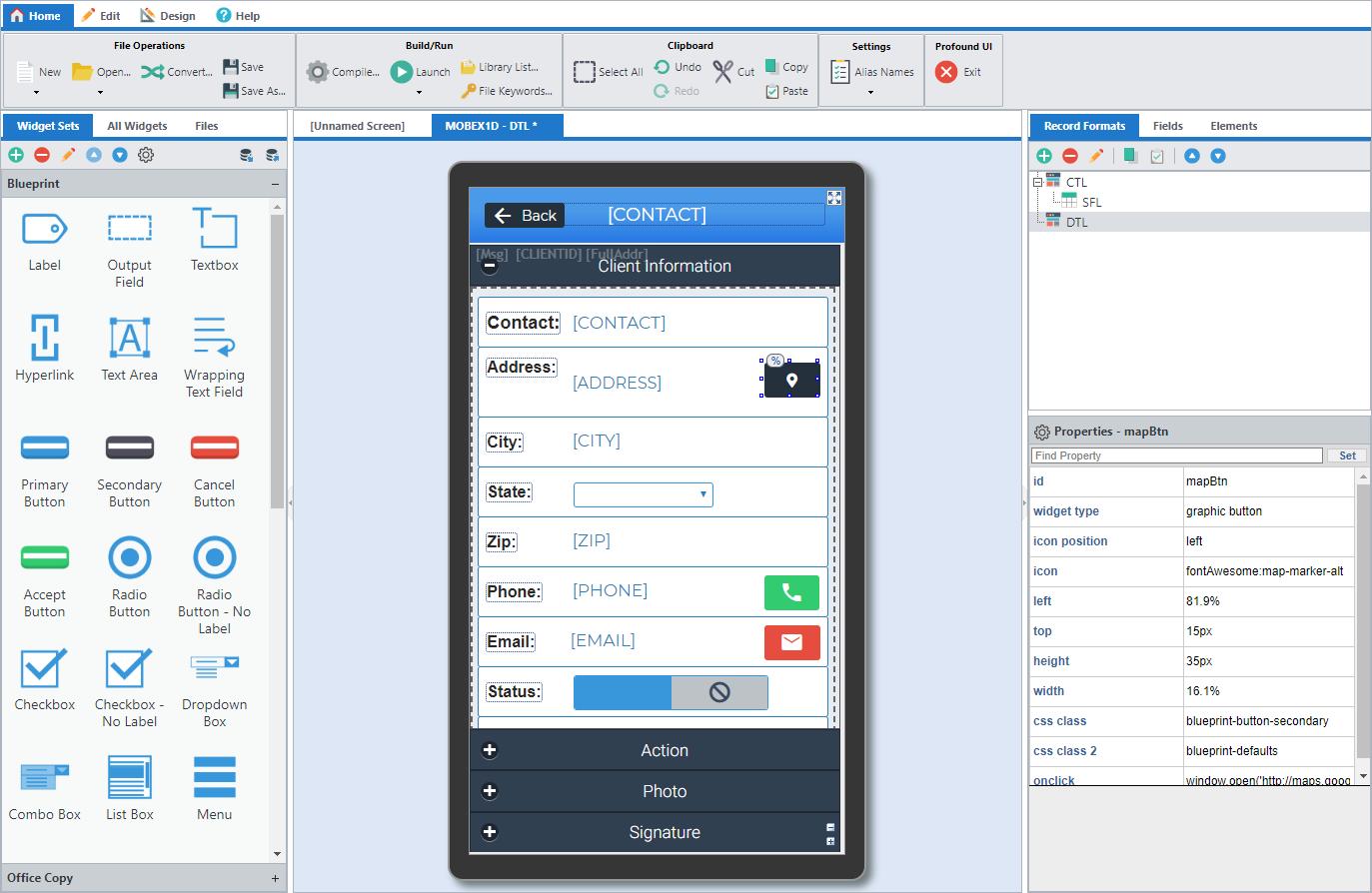 Profound UI Mobile Editor