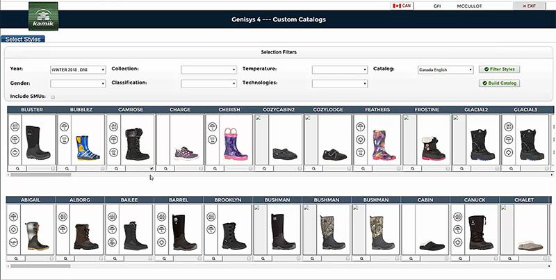 iPad application generates PDF files from sales catalog