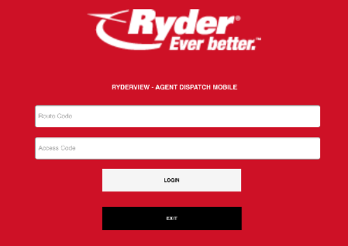 Ryder login